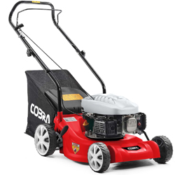41cm Petrol Lawnmower With Wheels